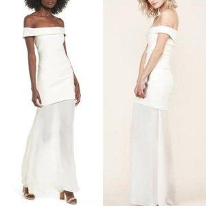 Stone Cold Fox Fairview Gown Linen Silk Strapless